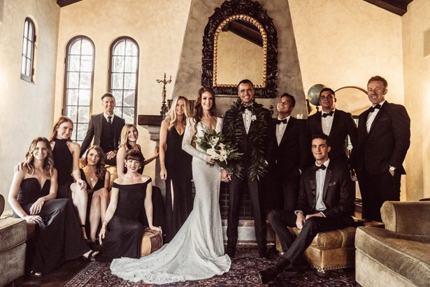 Black and white wedding party photo - Robbie Ziegler Photography