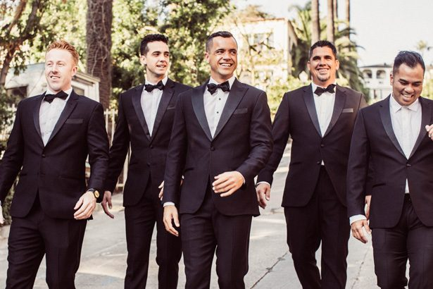 Groom and groomsmen in classic black tuxedos - Robbie Ziegler Photography