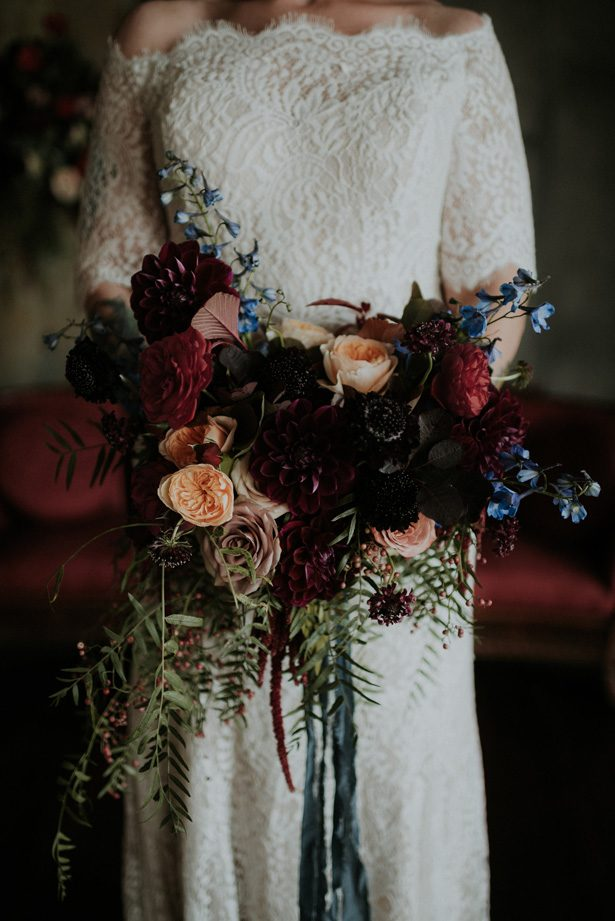 Moody wedding bouquet- Violet Short Photography