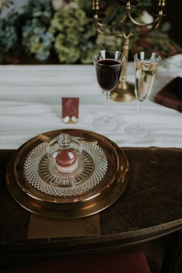 Old world gold place setting- Violet Short Photography