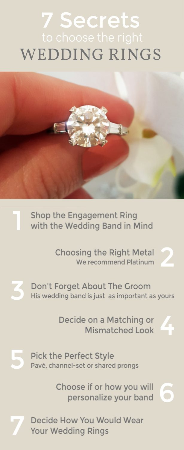 7 Tips To Choosing The Right Wedding Band For Your Engagement Ring