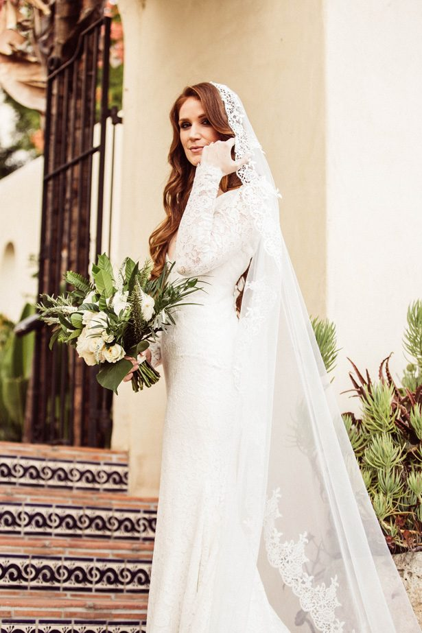 Sophisticated bride with Lace long sleeve wedding dress - Robbie Ziegler Photography