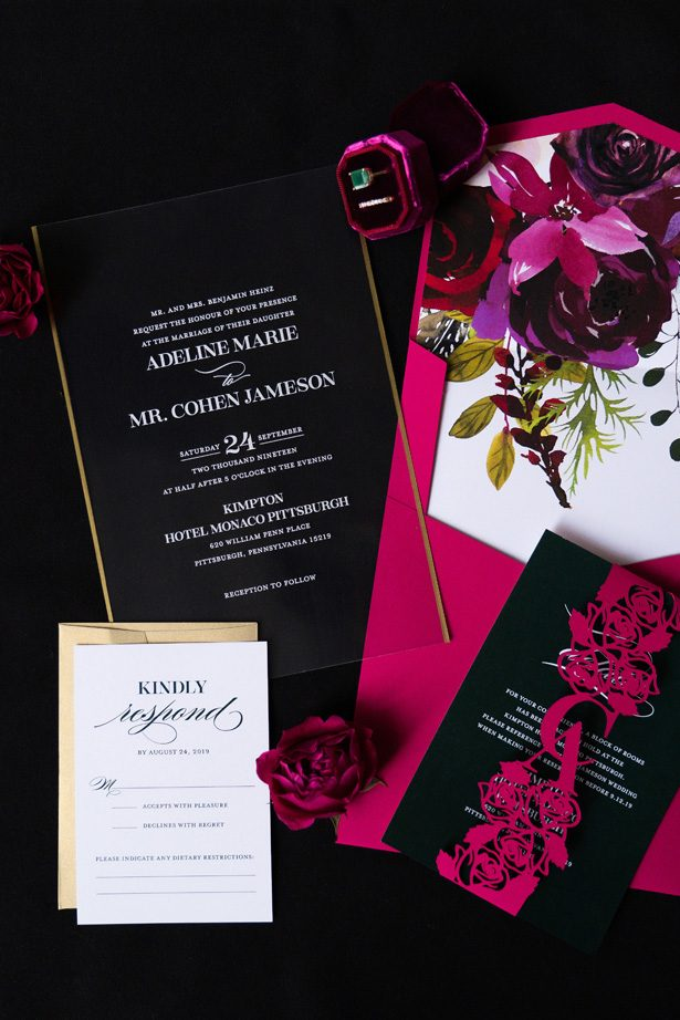 Ultra Luxe Wedding Invitations - Leeann Marie Photography