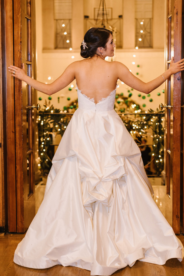 A-line wedding gown on sophisticated bride - Urban Row Photography