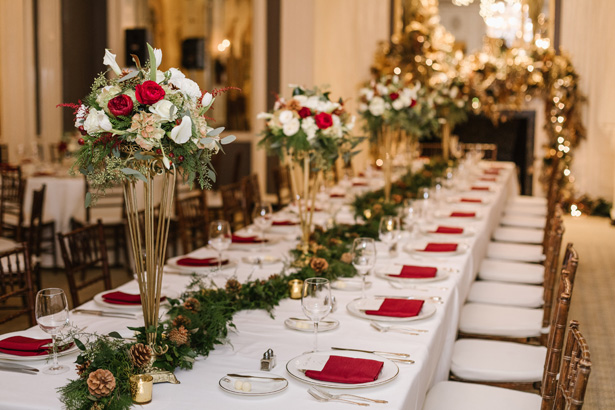 An Elegant Winter Wedding Loaded With Holiday-Inspired Details