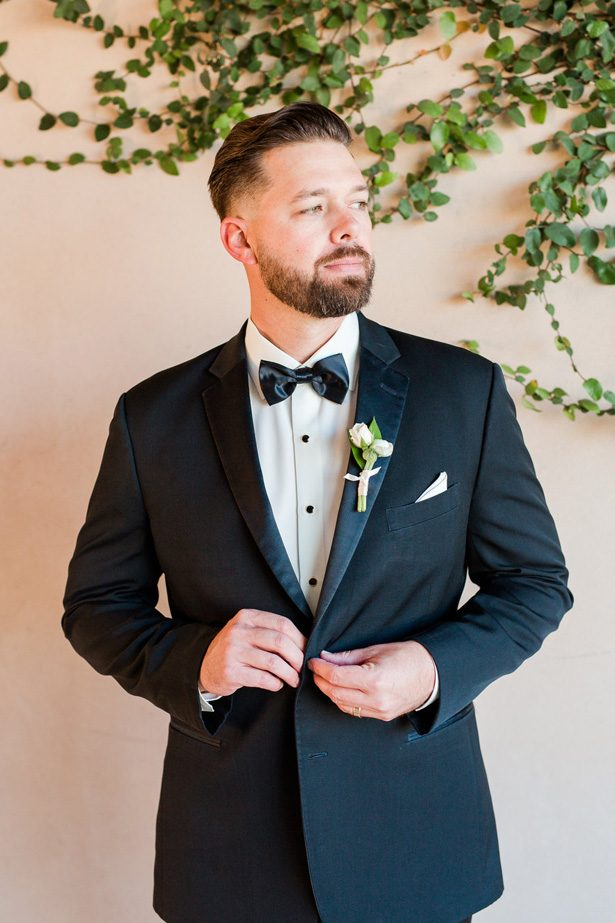 Groom in Black Tuxedo-  Jennifer Markle Photography