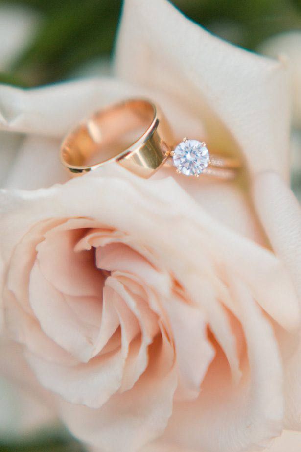 Rose gold wedding rings-  Jennifer Markle Photography