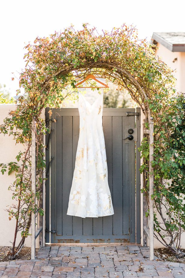 White and Gold Wedding Dress-  Jennifer Markle Photography