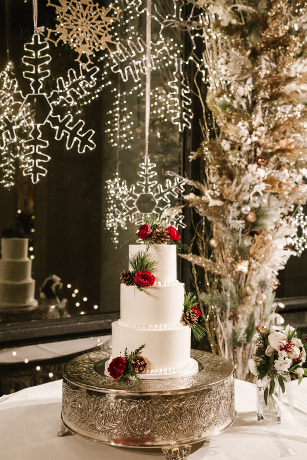Winter Wedding Cake Table - Urban Row Photography
