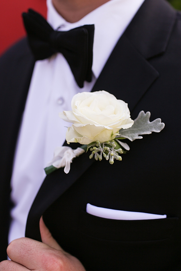 Groom wedding boutonniere - Soul Creations Photography