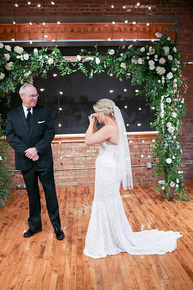Father daughter wedding first look - Soul Creations Photography