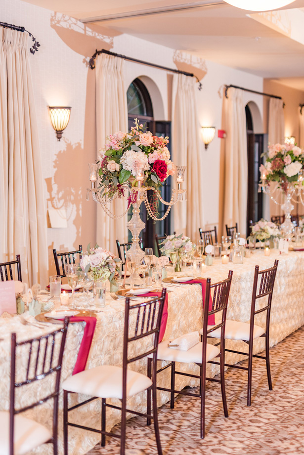 Long Wedding Tablescape -Photo by Stephanie Kase Photography