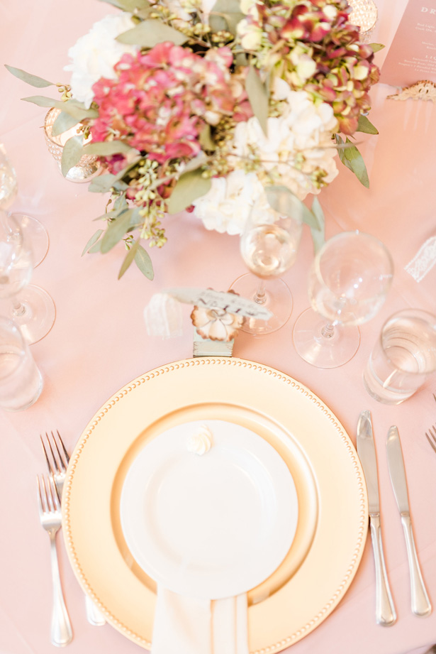 Wedding Place setting -Photo by Stephanie Kase Photography