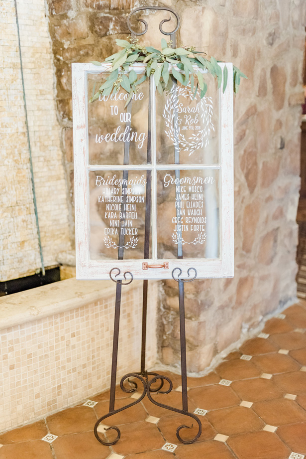 Wedding sign -Photo by Stephanie Kase Photography