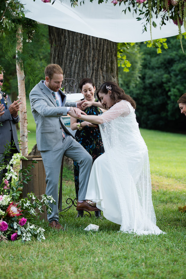 A Garden Wedding ceremony Filled With Pops Of Color - Photography: 6 of Four