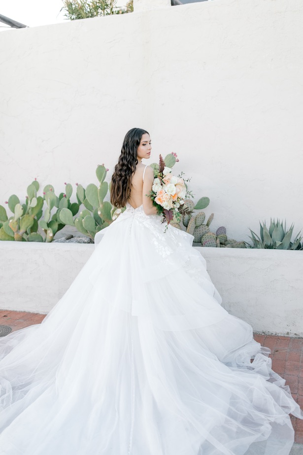 Ball gown wedding dress with open back by Allure Bridals- Sparrow and Gold Photography