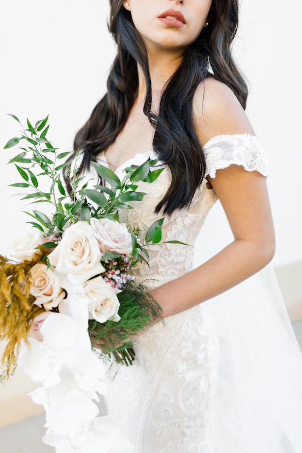 Boho Wedding Bouquet - Allure Bridals - Sparrow and Gold Photography