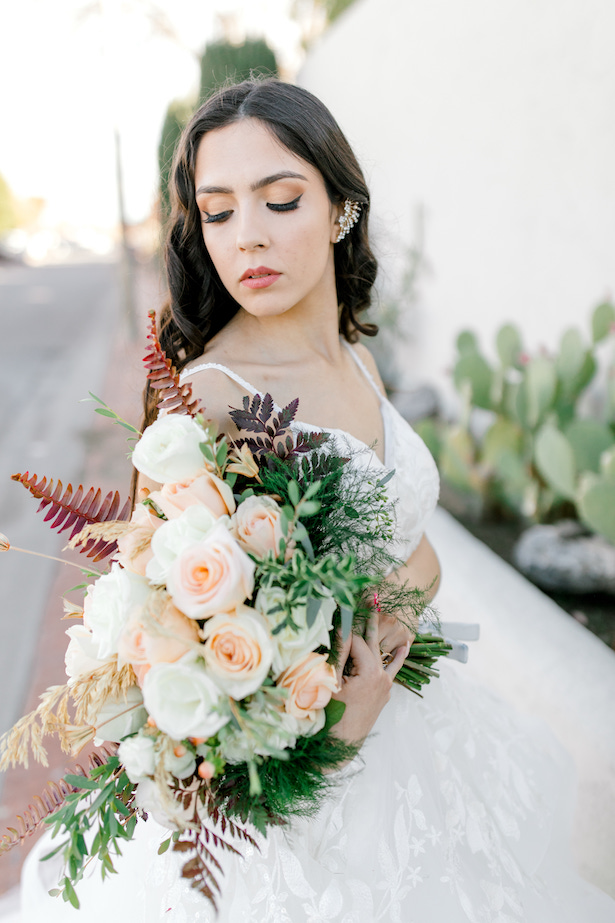 Boho wedding bouquet - Allure Bridals- Sparrow and Gold Photography