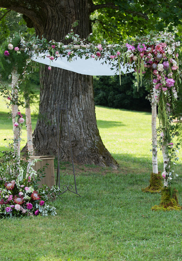 Floral wedding ceremony arch - Photography: 6 of Four