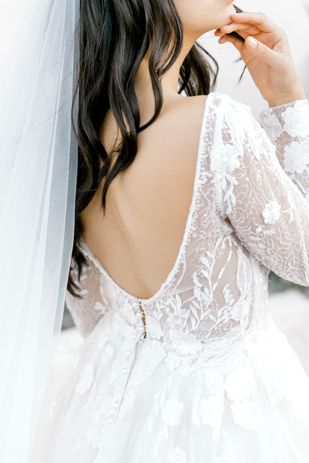 Long sleeves a-line wedding dress by Allure Bridals - Sparrow and Gold Photography