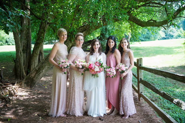 Pink bridesmaid dresses - Photography: 6 of Four