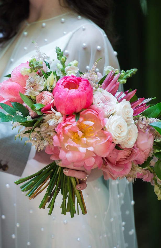 Pink peony wedding bouquet - Photography: 6 of Four