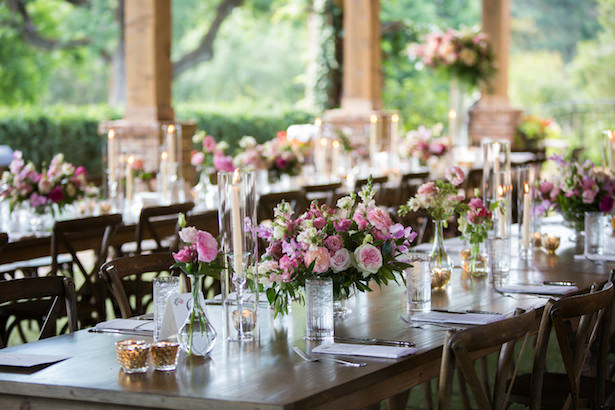 Pink wedding tablescape - Photography: 6 of Four