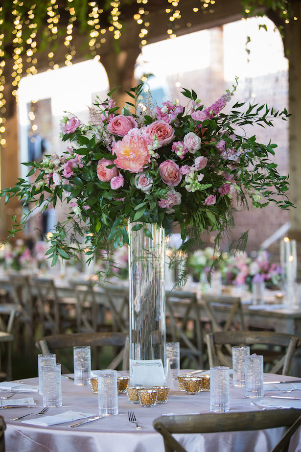 Tall pink wedding centerpiece - Photography: 6 of Four