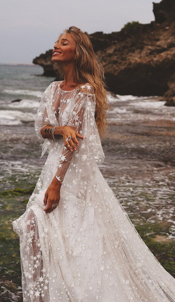 Vintage Bohemian Wedding Dress by Boom Bush