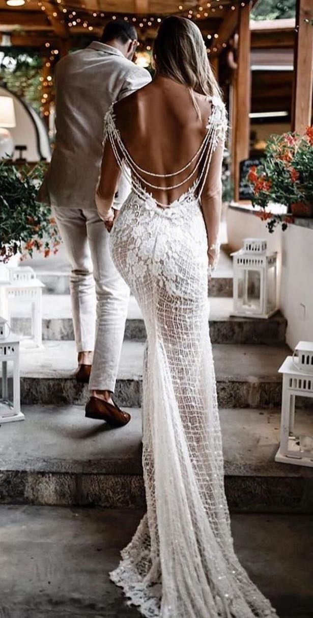Vintage Bohemian Wedding Dress by Galia Lahav - Tali Photography
