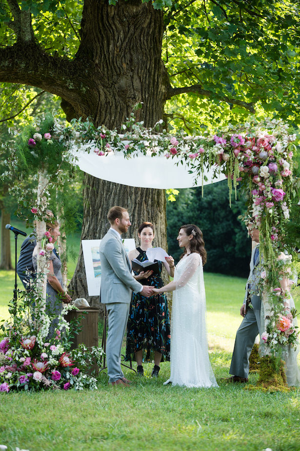 Wedding ceremony Floral wedding arch - Photography: 6 of Four