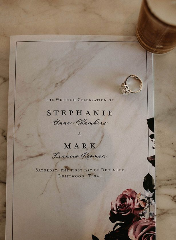Boho Glamorous Wedding marbled wedding invitation - Nikk Nguyen Photo