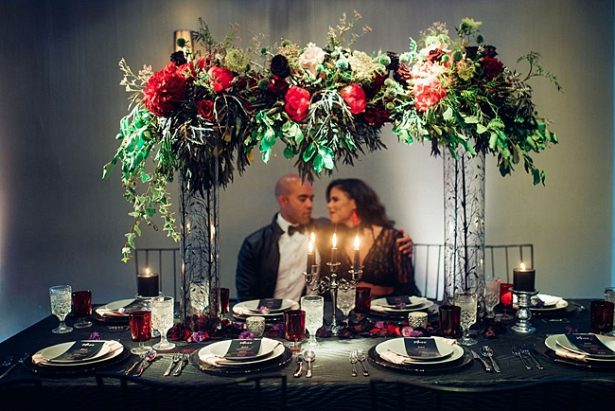 Bold and Glamorous Wedding Inspiration with Edgy Vibes