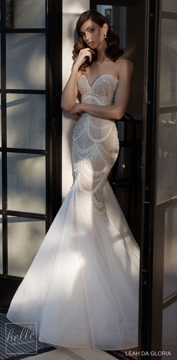 Dream Mermaid Wedding Dress by Leah Da Gloria
