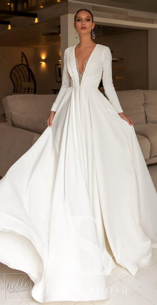 Dream simple wedding dress by Luce Sposa