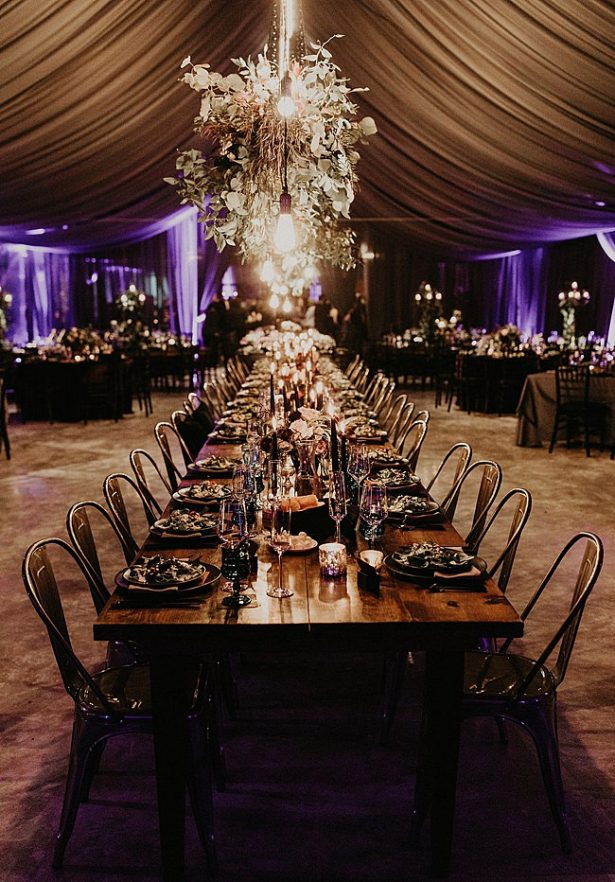 Seated dinner reception setup - Nikk Nguyen Photo