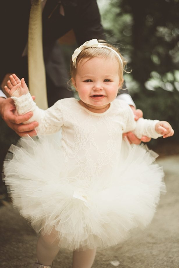 Adorable tulle flower girl dress in white - Aileen Elizabeth Photography