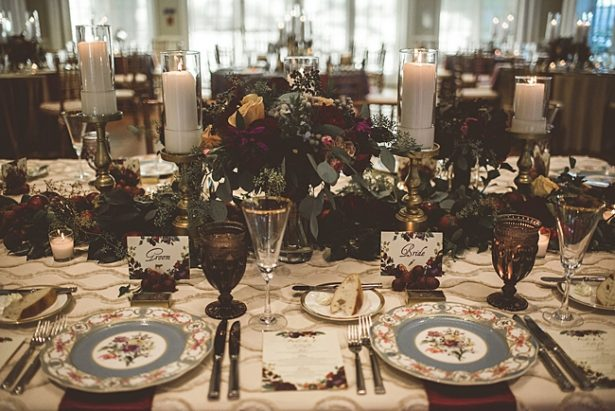 Head table for wedding reception decor ideas - Aileen Elizabeth Photography