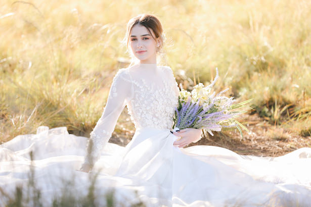 House of Maganda bridal session with bride in flower wedding dress - Photo: Tiffany Hudson Films