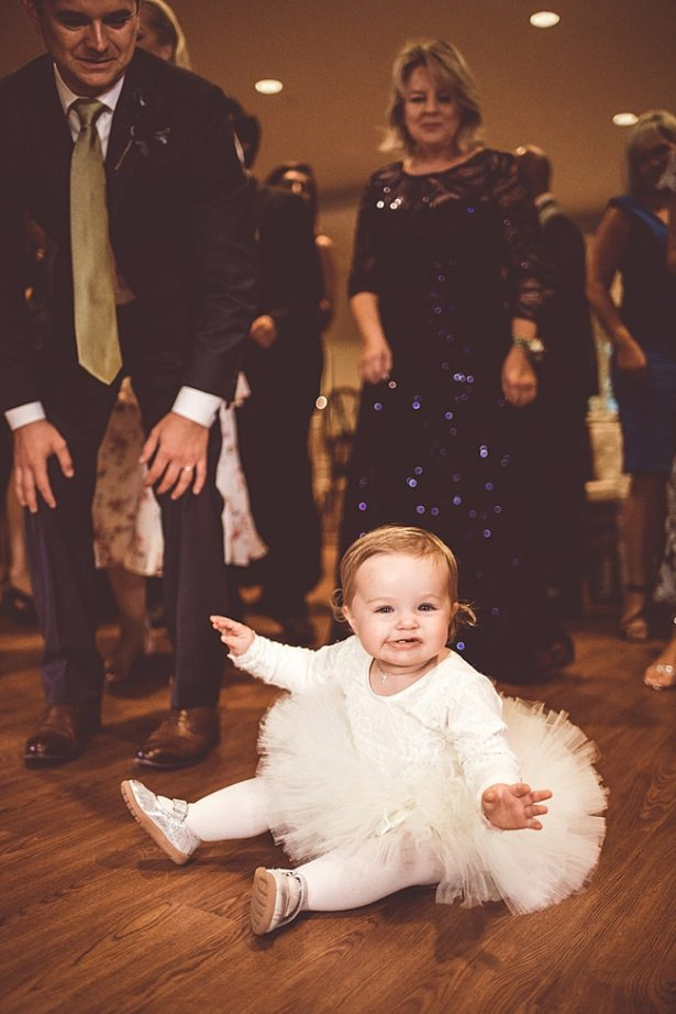 adorable photo of flower girl at reception - Aileen Elizabeth Photography