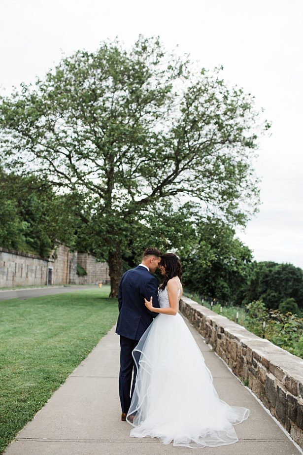 Country Club Wedding photo of bride and groom - Bluespark Photography