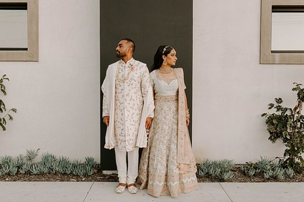 Epic Indian wedding attire for bride and groom- Foolishly Rushing In Photography
