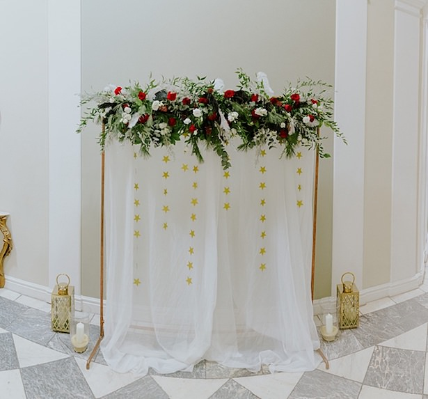 Wedding ceremony backdrop - Jamie Sia Photography