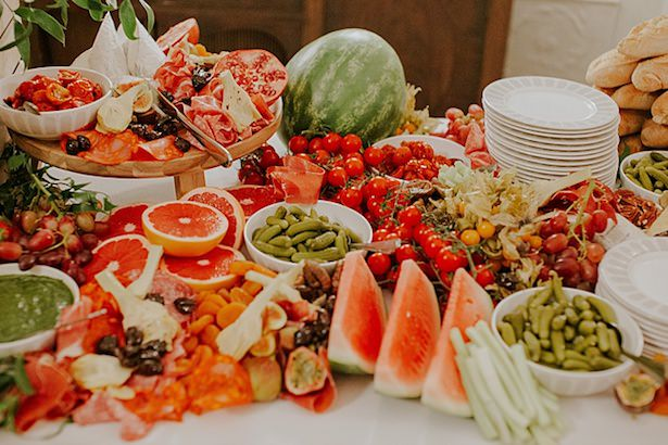 Fruit display for wedding - Jamie Sia Photography