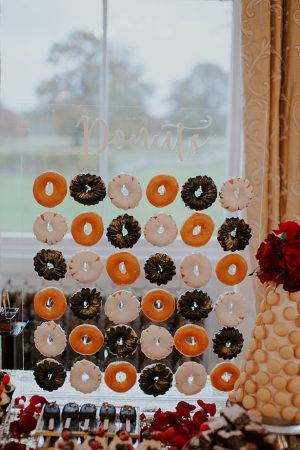 Wedding Donut acrylic display - Jamie Sia Photography