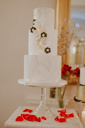 White marble wedding cake - Jamie Sia Photography