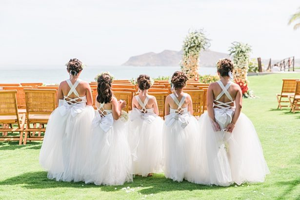 Adorable tulle flower girl dresses with flower crowns - Photography: JBJ Pictures