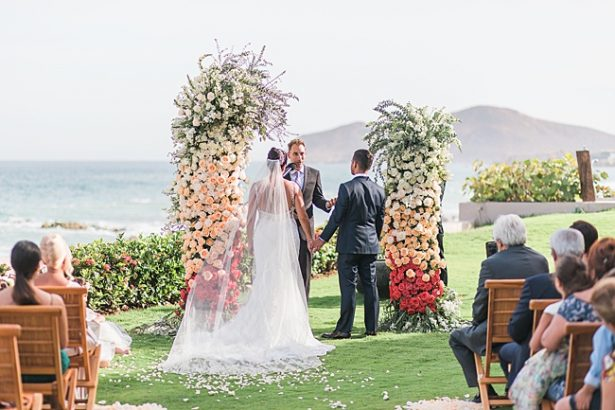Cabo Destination Wedding ceremony by the water - Photography: JBJ Pictures