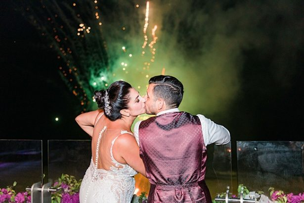 Cabo Destination Wedding reception send off with fireworks - Photography: JBJ Pictures