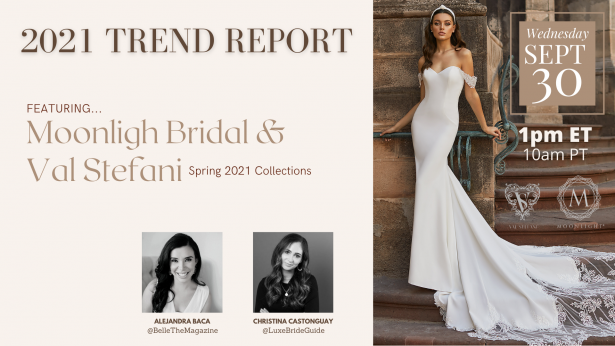 Our Wedding Dress Trend Report for 2021 is Here. Don't miss it!